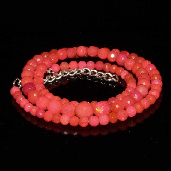 boules à facettes opale éthiopienne belle couleur rose naturel 100 % en 4 à 7 mm 1 volet 55 cts A +++ qualité welo au feu 4 à 7 Mm