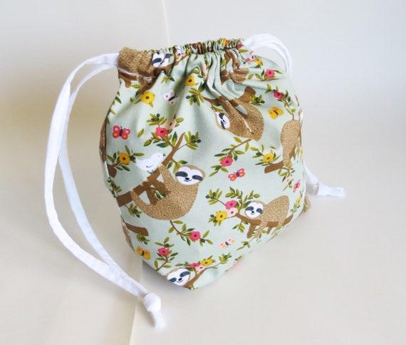 KNITTING BAG /'SLOTH/' DESIGN Drawstring Top