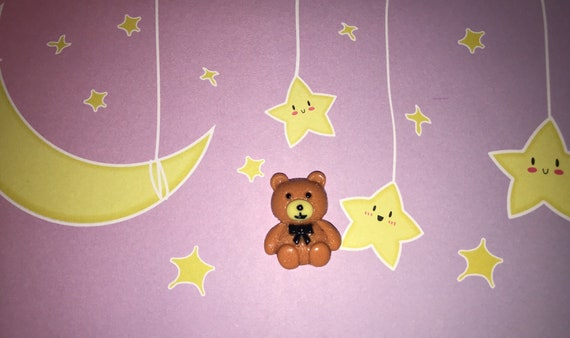 Kawaii Teddy Bear Ring Cute Fairy Kei Ddlg Abdl Bear Ring Adjustable Size Cute Rings Adorable Ring Baby Bear Ring Pop Kei Candi Harajuku