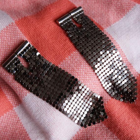 Paco Rabanne mesh silver earrings