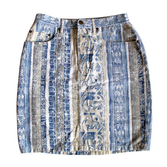 Kenzo Jeans vintage printed skirt