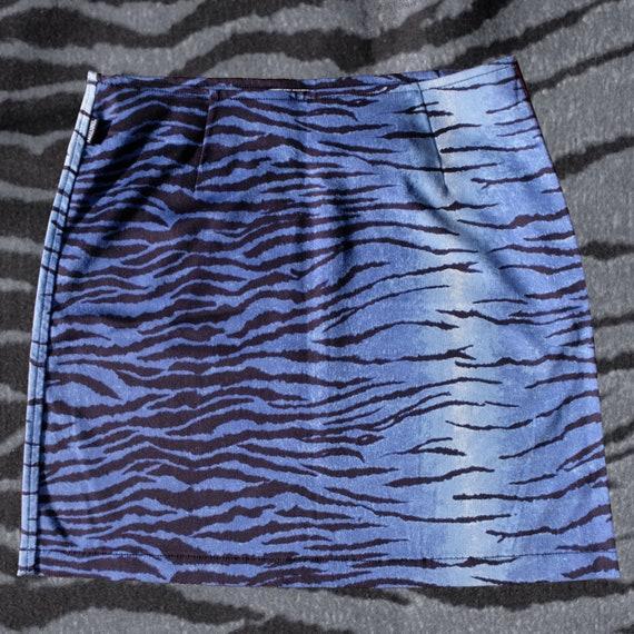 Moschino zebra print skirt
