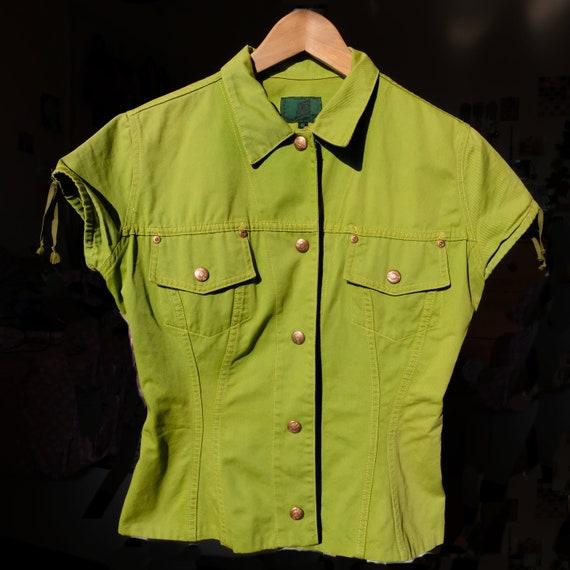 Jean Paul Gaultier junior green jacket