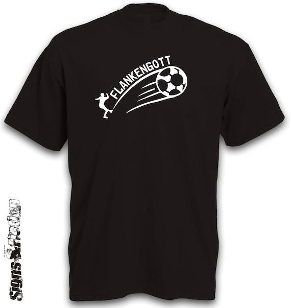 T Shirt Fussball Fussball Soccer Flanke Tshirt Herren Kurzarm Unisex Frauen Retro B C Motivshirt Geschenkidee Geburtstagsgeschenk