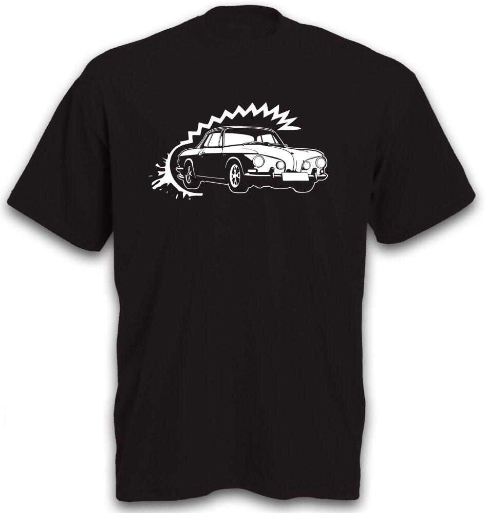 Motif de T-Shirt Karmann 34 Ghia type 34 Karmann voiture voiture classique voiture classique tshirt hommes femmes lunettes Retro chemise à manches courtes avec motif motif chemise cadeau idée ad0175