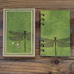 Mini notebook with box-dragonfly green