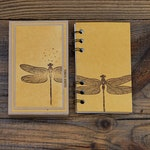 Mini notebook with box-dragonfly yellow