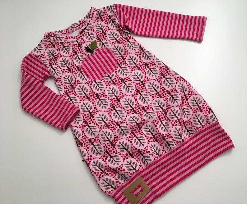 fe3d7db2efaff Ballonkleid Tunika Hängerchen Mädchen Langarm Streifen rosa | Etsy