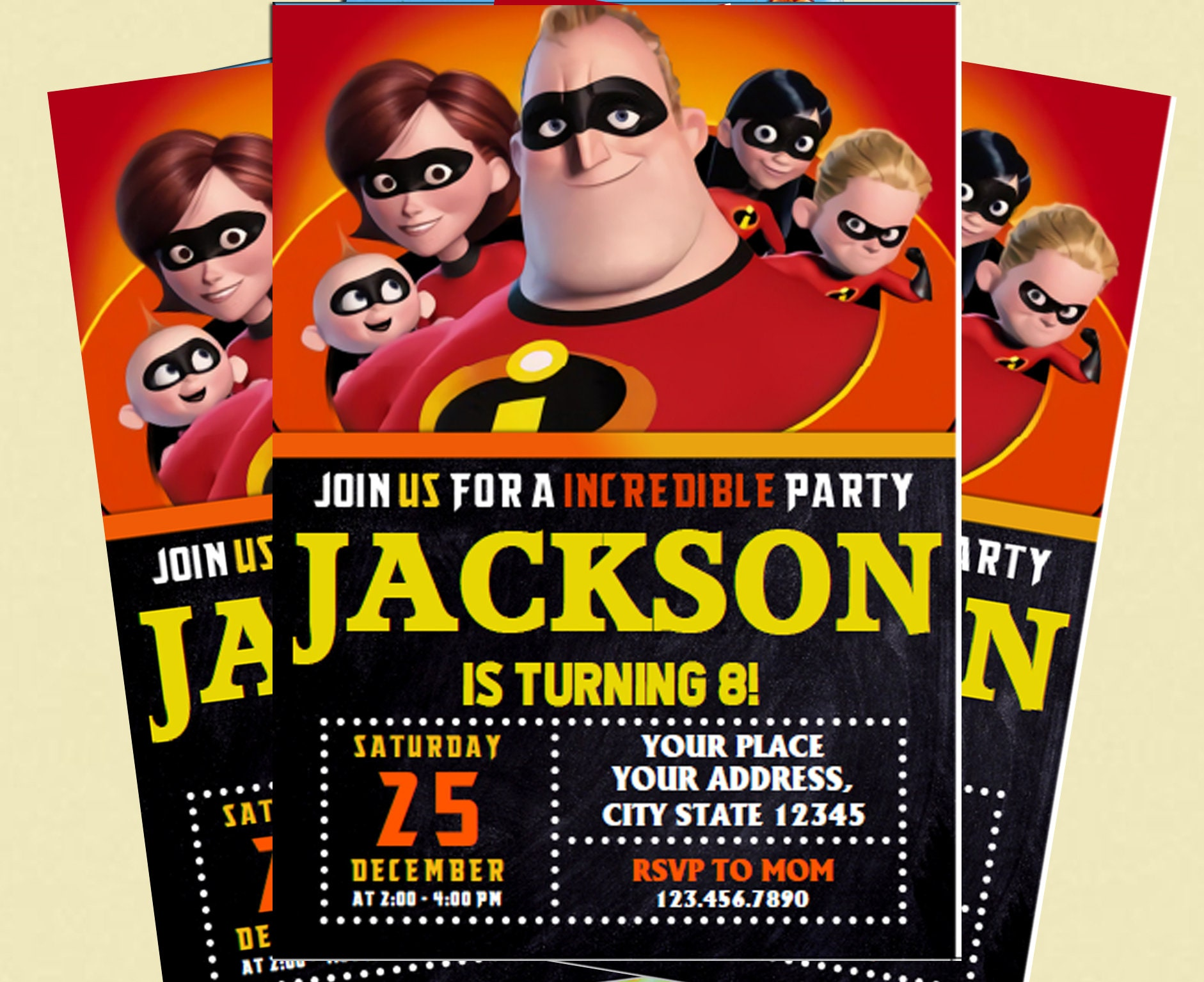 The Incredibles 2 Invitation The Incredibles Birthday | Etsy