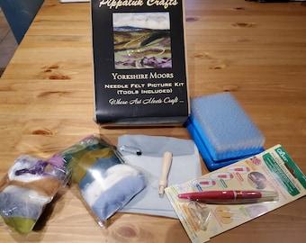 Needle felting kit (large) Yorkshire Moors