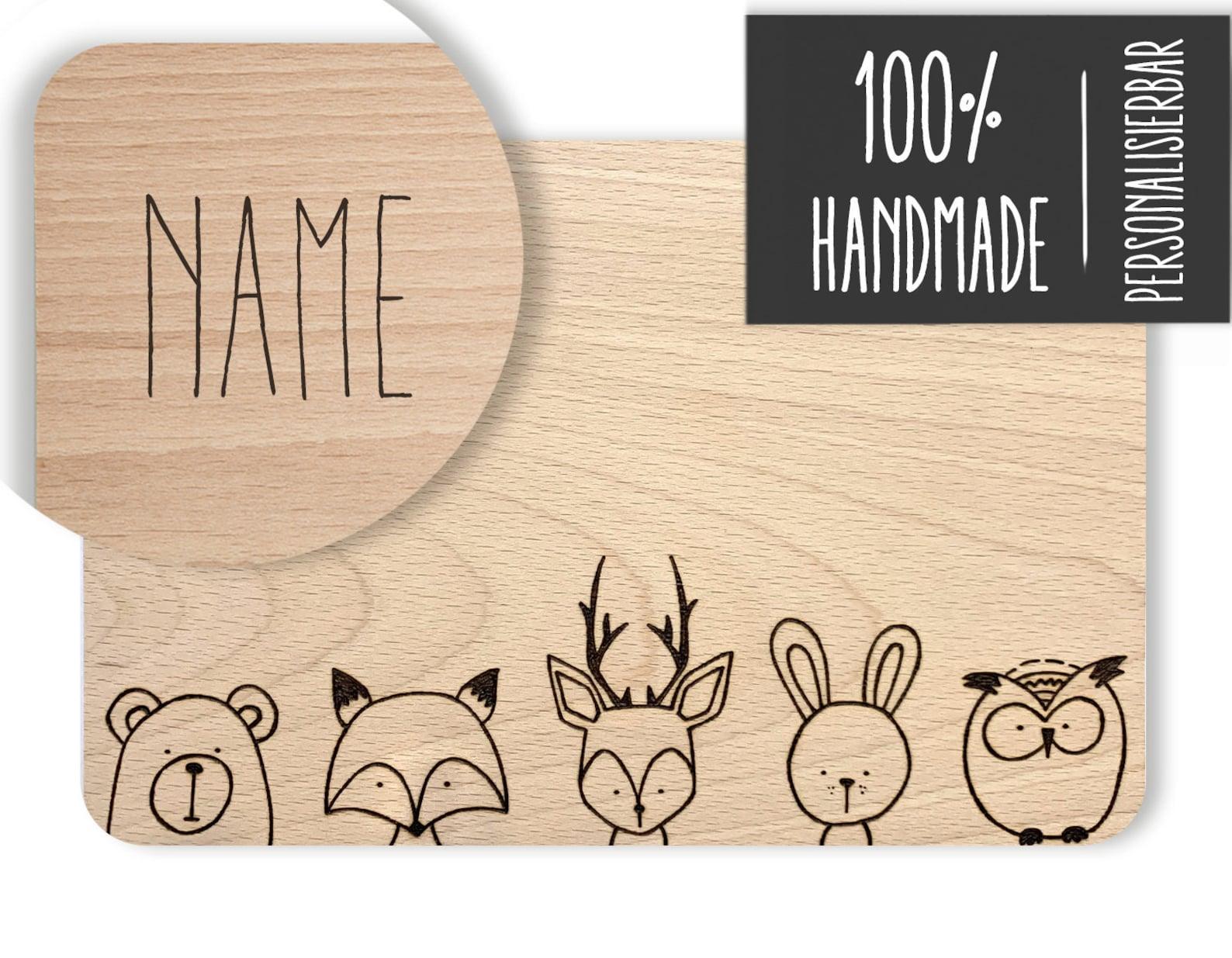 Wooden Board Animals Forest