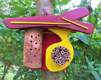 Insect Hotel Insect House, Balcony Terraces Garden Decor, Bee Hotel, Thanks Gift for Him, You, Parents Grandma, Spring, Sustainable Home Decor