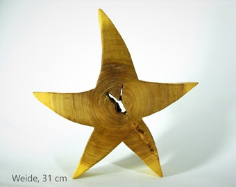 Wooden star from willow, decoration at home, tree disc, unique wood, gift for him, you, grandma, friend, Christmas, birthday, autumn, winter
