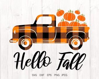 Fall Truck Svg Etsy