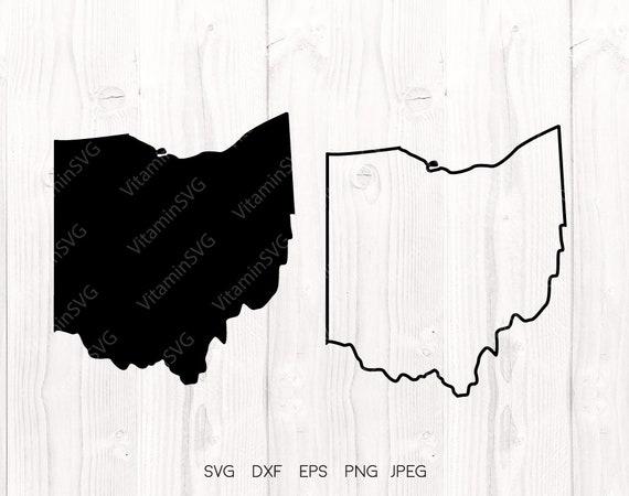 Ohio State Ohio Svg File Ohio Outline Ohio File Cricut Etsy