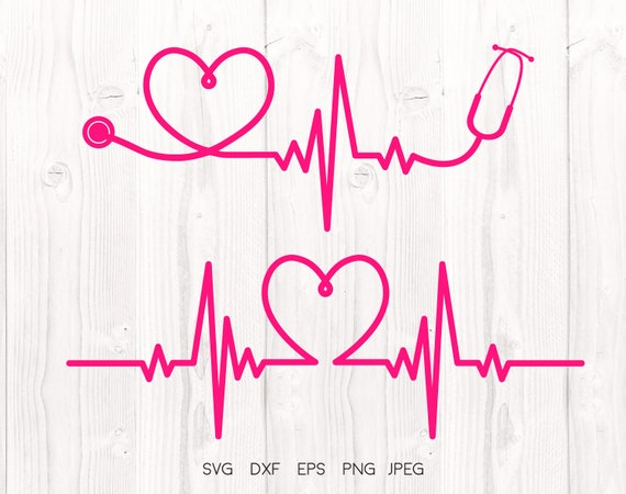 Heartbeat Svg Healthcare Cut File Nurse Svg Stethoscope Etsy