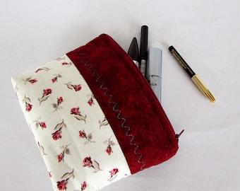 Make-up bag,cosmetic bag bordeaux