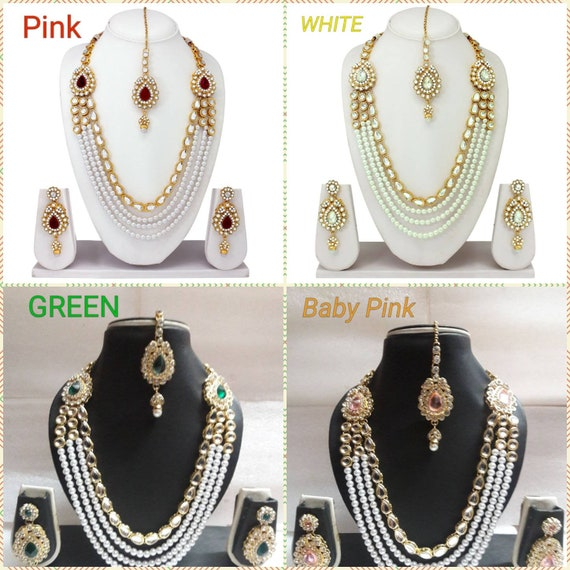 Indian Traditional Gold Plated Bridal Wedding Fashion Jewelry Etsy