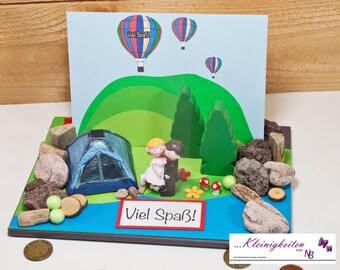 Cash gift to wedding, camping, camping, honeymoon, voucher, honeymoon, travel voucher, little things from NB
