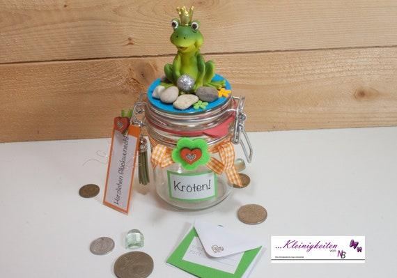 Geldgeschenkkroten Geld Verschenken Geldglas Bugelglas Etsy