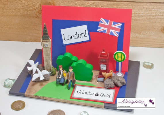Money Gift Coupon London England City Trip Travel Coupon Etsy