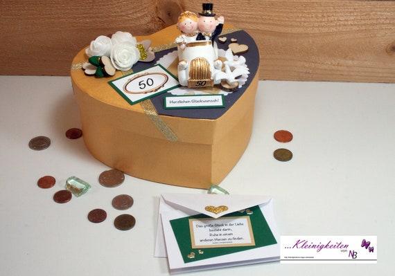 Goldene Hochzeit Geldgeschenke Gutschein Jubilaum 50 Etsy