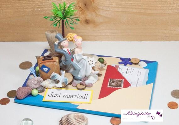 Geldgeschenk Hochzeit Gutschein Flitterwochen Etsy