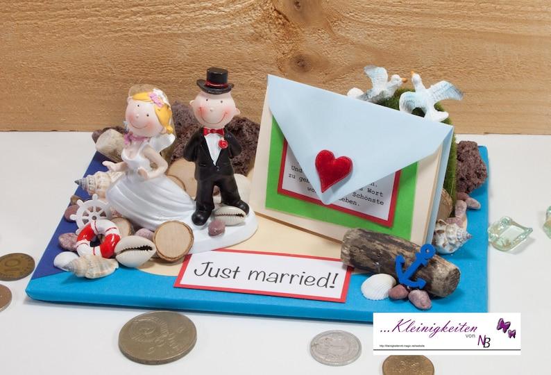 Geldgeschenk zur Hochzeit Gutschein Flitterwochen | Etsy