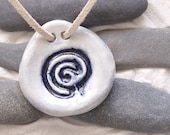 Ceramic pendant, a portable multipurpose finger labyrinth jewellery, sensory fidget