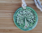 Tree of Life Ceramic Pendant Aromatherapy Necklace – oil diffuser