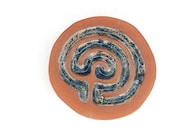 "Blanket of Stars"" Handsculpted Cretan  labyrinth for mindfulness, meditation, healing, general wellness and home decor"