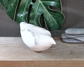 "Bird sculpture  ""This too shall pass"" stress relief and good vibes  Mindfulness gift  ceramics birds  designed to encourage self-love"