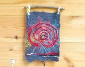 Eye of the storm   Felted wall hanging/tapestry featuring Cretan labyrinth motive