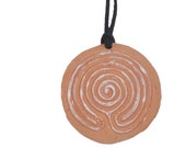 NEW Design! terracotta spiral  handmade terracotta multipurpose finger labyrinth aromatherapy jewellery 1