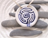 Ceramic pendant, a portable multipurpose finger labyrinth jewellery