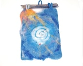 In Dreams 2  Felted wall hanging/tapestry featuring Cretan labyrinth motive