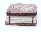 Triskele Handmade Ceramic Labyrinth Journal Hand-bound Notebook Well Being Crafts