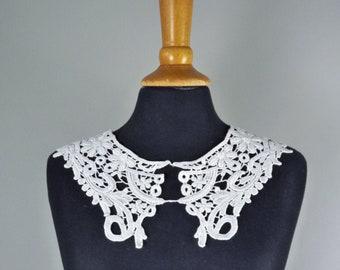 nostalgia lace ivory patch white, lace gold couture lace black collar lace set Applique velvet lace application