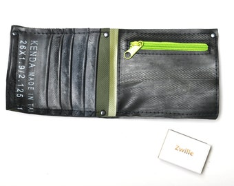 Purse/ wallet made of recycled tractor tube