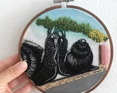 Street Art Snails | Lagos Portugal | Street Art Embroidery | Hand Embroidery | Needle Painting Embroidery | Snail Art Embroidery