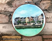 Painted Ladies | San Franzisco Embroidery | Hand Embroidery | City Embridery | Gift For Friend | Modern Embroidery | SF