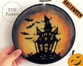 PDF Pattern Halloween | Spooky House | Haunted House | Halloween Wallart | Halloween Embroidery Pattern | Hand Embroidery | Digital Download