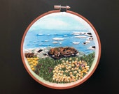 Sonoma County California | Blissful Bodega Bay | Landscape Embroidery | Hand Embroidery