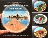 Custom Embroidered Hoop | Custom Embroidery | Landscape Embroidery | Travel Souvenir Embroidery | Gift | Open for Commissions