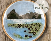 PDF Pattern Milford Sound New Zealand | Landscape Embroidery Milford Sound | Hand Embroidery | Digital Download PDF | Pattern only