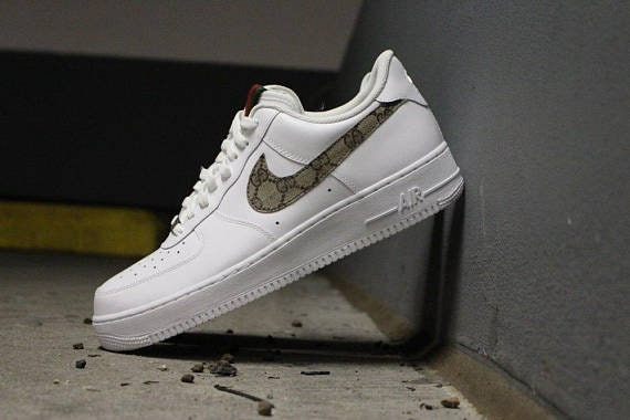 reputable site 5a3d7 6fef0 Gucci Nike Air Force One GG   Etsy