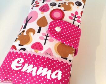 Wickeltasche Windeltasche Baby Farbwahl Geschenk Junge Mädchen Windeletui Gummi