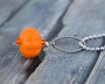 Necklace / Glass Bead Necklace / Necklace / Autumn Necklace 'Pumpkin'