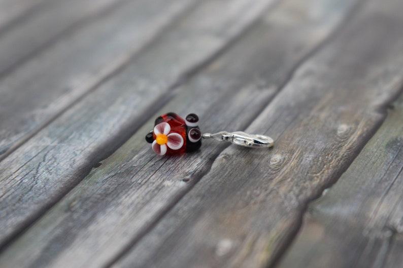 Pendant / chain pendant / glass bead pendant / ladybug / image 0