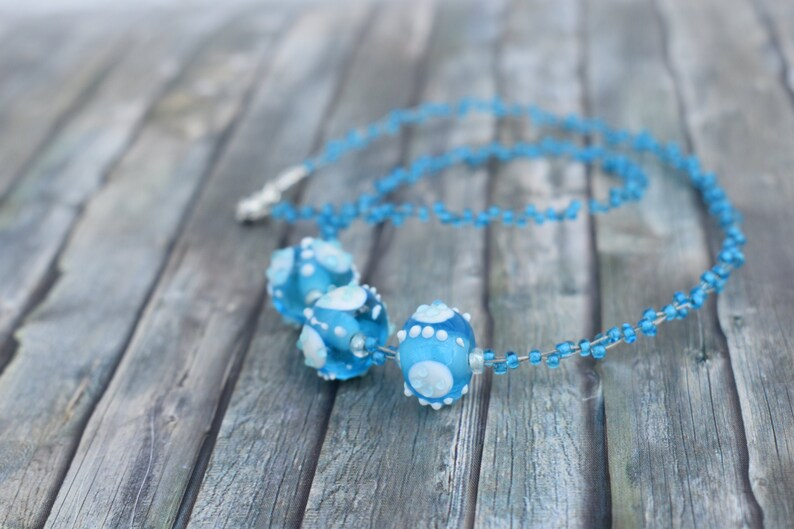Necklace / Necklace / Glass Bead Necklace / Short Chain / image 0